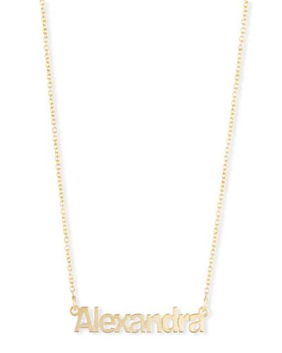 Ava Block Letter Name Pendant Necklace
