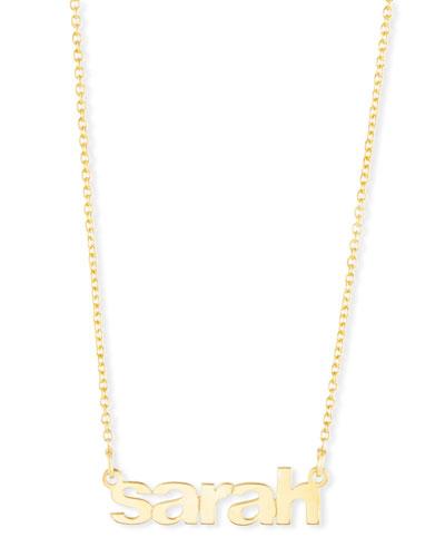 Ava Block Letter Lowercase Name Pendant Necklace