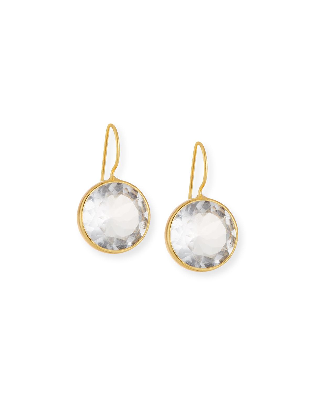 DINA MACKNEY Large Clear Quartz Drop Earrings