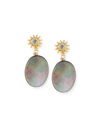 Black Mother-of-Pearl Drop Earrings