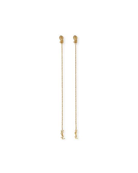 Saint Laurent Opyum Monogram Drop Earrings