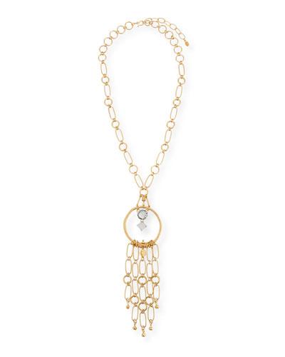 Circle & Dangle Pendant Necklace