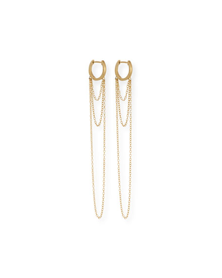 Jennifer Zeuner Elmar Chain Drop Earrings