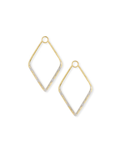 c1c600ba0 Quick Look. Jude Frances · Lisse 18k Gold Large Diamond Kite Earring Charms
