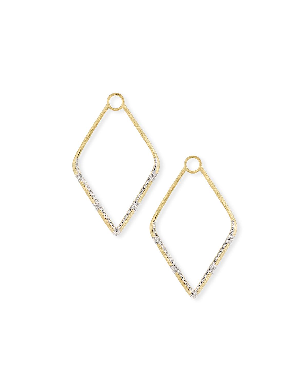 Lisse 18k Gold Large Diamond Kite Earring Charms