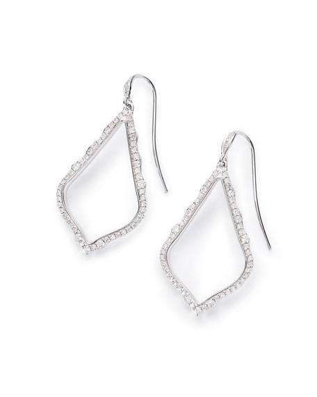 Kendra Scott Sophia 14k White Gold & Diamond Drop Earrings