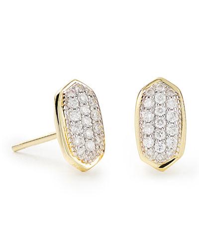 Amelee 14k Gold Diamond Stud Earrings