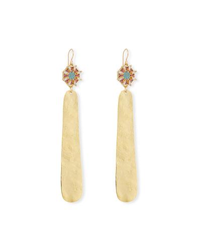 Crystal Top & Dangle Earrings