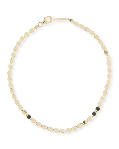 14k Gold Nude Chain Anklet