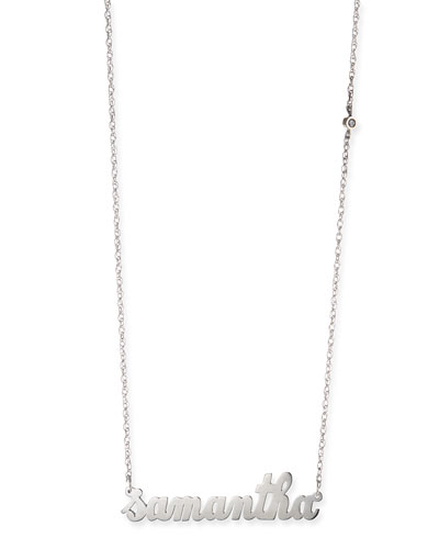 Jennifer Zeuner Abigail Personalized Diamond Necklace