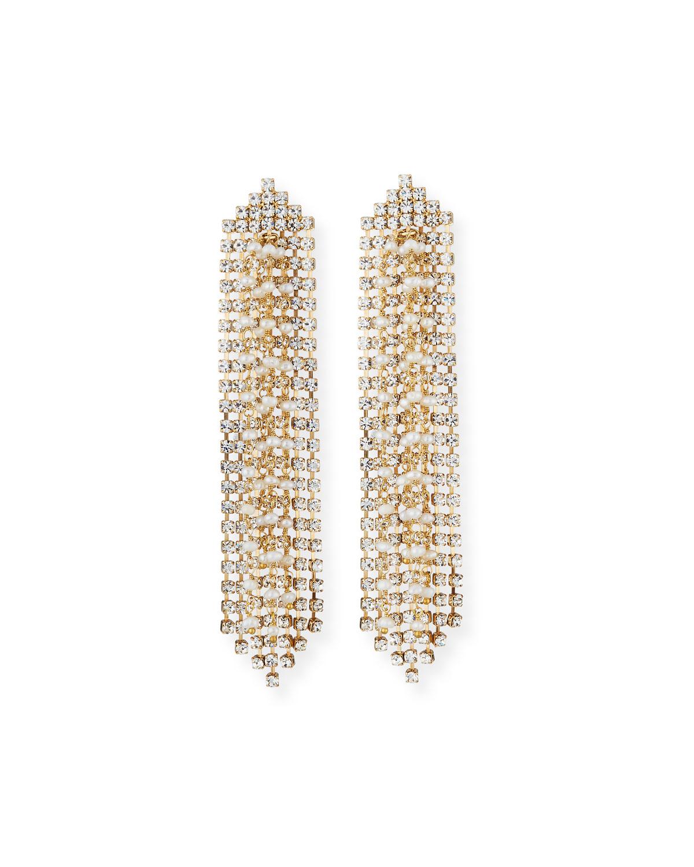 ROSANTICA Gelo Pearl & Crystal Dangle Earrings