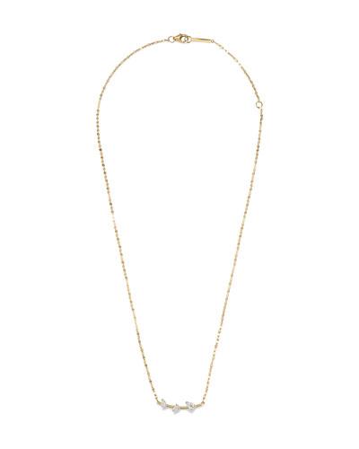 14k Gold & Diamond Cluster Necklace