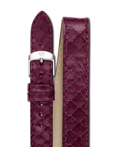 18mm Snake Double-Wrap Watch Band, Plum