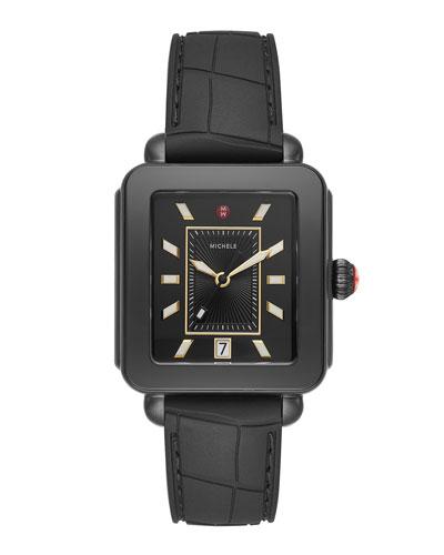 Deco Sport Blackout Watch w/ Silicone Strap