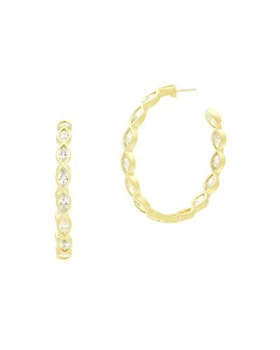 Marquise Cubic Zirconia Hoop Earrings