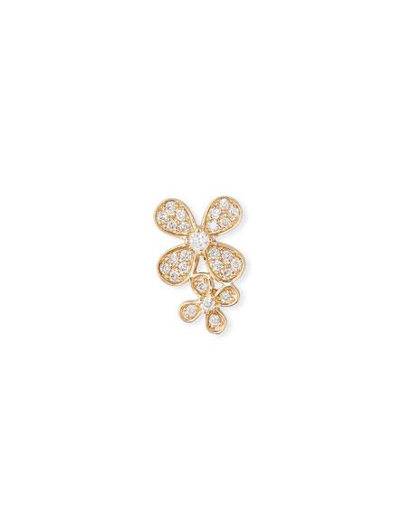 Sydney Evan 14k Gold Diamond Double Paisley Petal Stud Earring (Single)