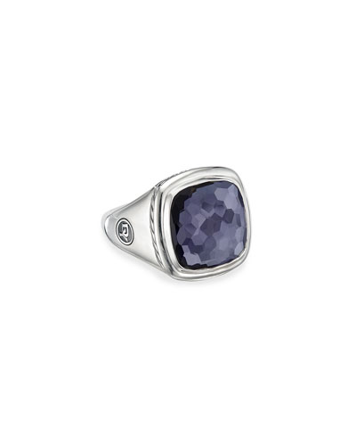 Albion Ring w/ Black Orchid, Size 5-9