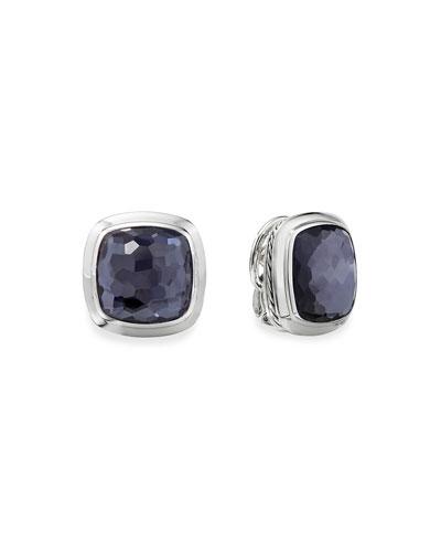 Albion Stud Earrings w/ Black Orchid
