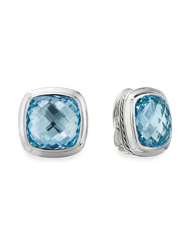 Albion Stud Earrings w/ Blue Topaz