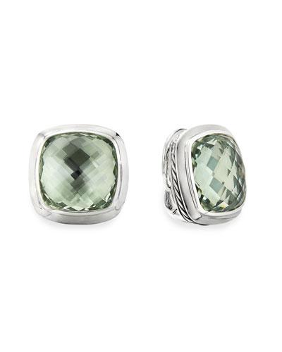 Albion Stud Earrings w/ Prasiolite