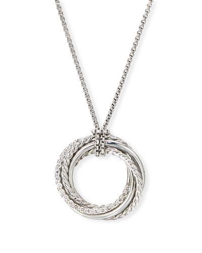 DY Crossover Pendant Necklace w/ Diamonds