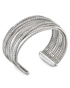 David Yurman DY Crossover Cuff Bracelet w/ Diamonds,