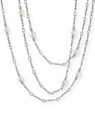 David Yurman Continuance Pearl Small Chain Necklace, 36