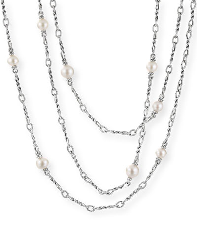 Continuance Pearl Small Chain Necklace, 36