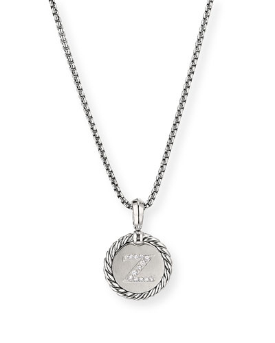 Collectible Diamond Initial Z Necklace