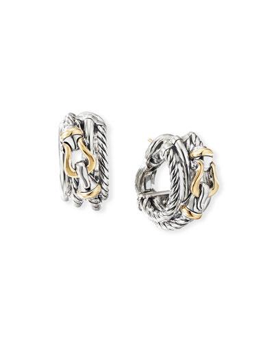 DY Crossover Buckle Shrimp Earrings w/ 18k Gold