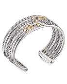 David Yurman DY Buckle Crossover Cuff Bracelet w/