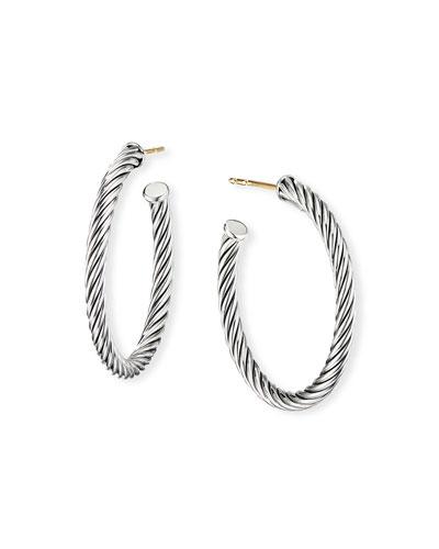 Cablespira Hoop Earrings, 1