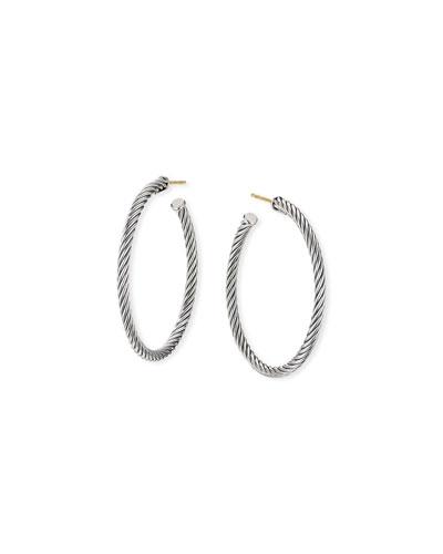 Cablespira Hoop Earrings, 1.5