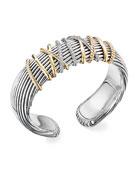 David Yurman Helena Cuff Bracelet w/ 18k Gold