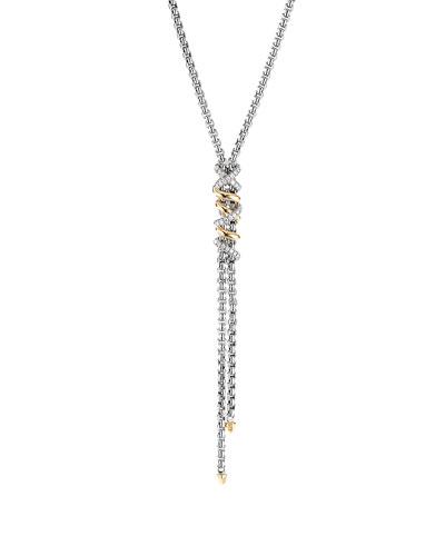 DY Helena Diamond Wrapped Y-Drop Necklace w/ 18k Gold