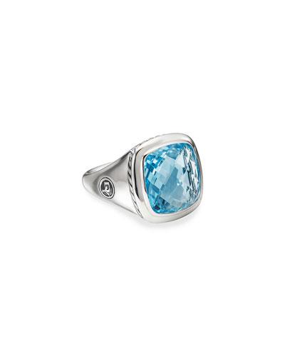 Albion Ring w/ Blue Topaz, Size 5-9