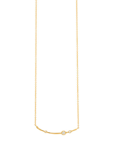 Josslyn Curved Pendant Necklace