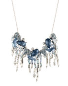 Alexis Bittar Cluster Bib Necklace with Crystal Fringe