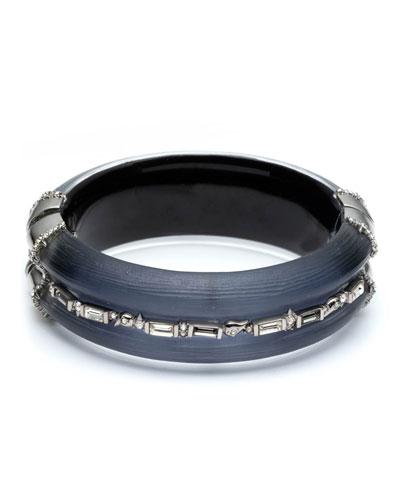Crystal Baguette Hinge Bracelet, Blue