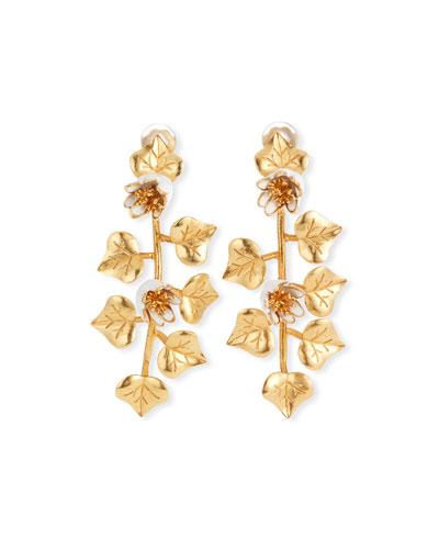Ivy Clip-On Drop Earrings