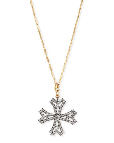 Jacalyn Crystal Cross Pendant Necklace