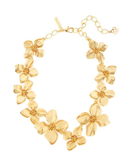 Oscar de la Renta Flower-Station Necklace