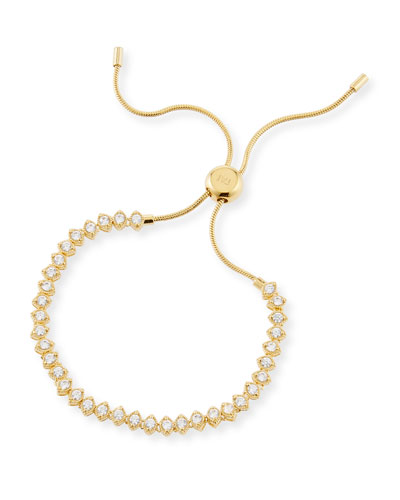 Cubic Zirconia Pull-Tie Bracelet