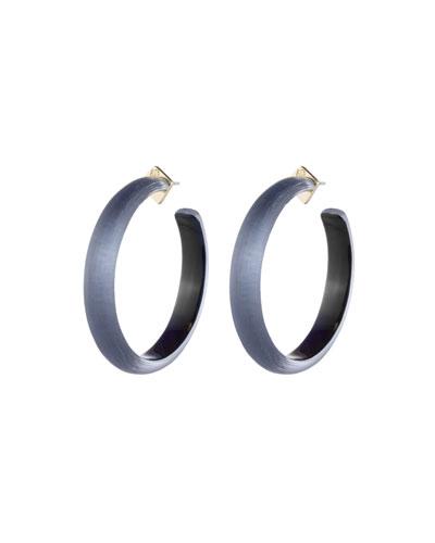 Large Hoop Earrings, Blue