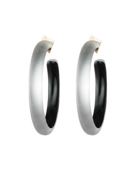 Alexis Bittar Large Hoop Earrings, Gray