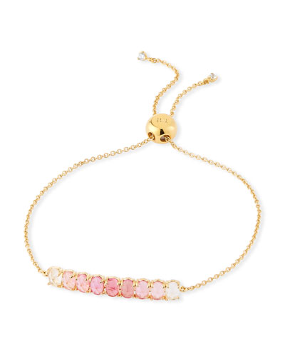 Pull-Tie Ombre Stone Bracelet, Pink