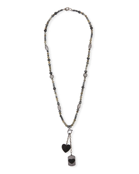 Hipchik Pendant Necklace with Hearts