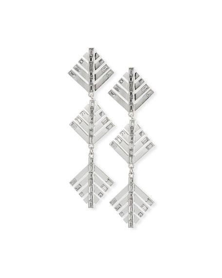 Lulu Frost Cascadia Pine Drop Earrings, Silvertone