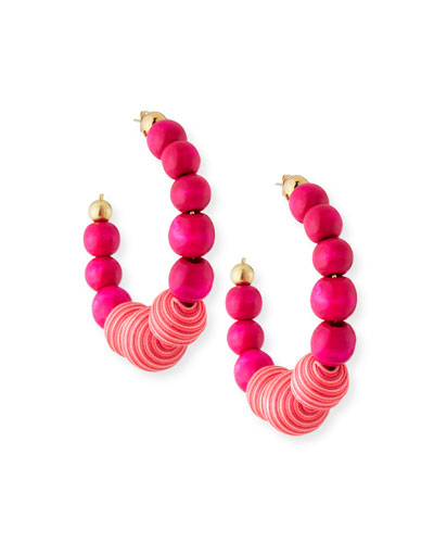 Colonia Beaded Hoop Earrings