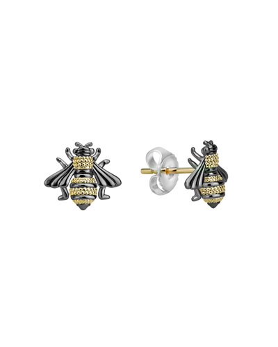 Rare Wonders 18k Honeybee Stud Earrings